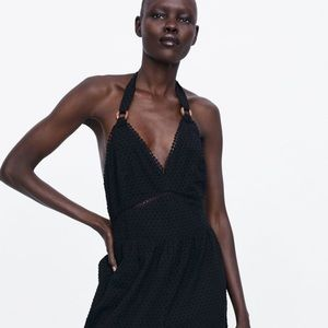 Zara Swiss dot jumpsuit